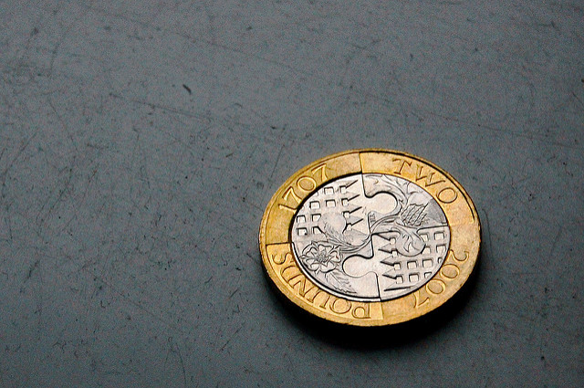 The Beautiful British Pound Sterling (Well, the 2 pounds I mean)
