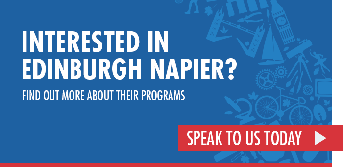 Interested in Edinburgh Napier find out about their programs by speaking to Across the Pond today